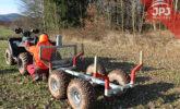 vozík na drevo
