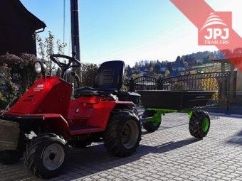 Vozík za štvorkolku a záhradné traktory