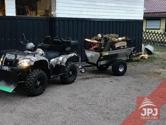 vozík záhradník za pracovnú štvorkolkou